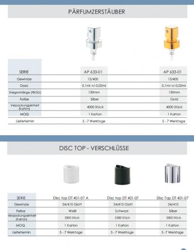 Sprühpistolen, Dispenser, Trigger, Lotion-Pumpen - Produktkatalog Lagerware 2018_10